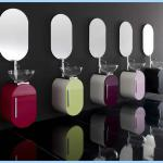 2013Newest Italian Lacquer Mini Small PVC Bathroom Furniture-JLL-BW3001