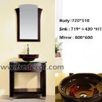 Contemporary Desgin Free Standing Bathroom Vanity with tempered glass sink-FSE-VT-T08