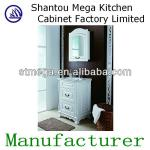 American style white pvc bathroom cabinet-