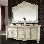 Antique white color bathroom vanity-0281-b8093