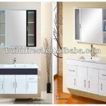 Wall Mounted PVC bathroom vanity with mirrored cabinet-G1006H