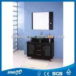 MDF bathroom cabinet with glass washbasin-MDF-009