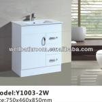 750MM Hot Sale Floor Standing kick board white high gloss MDF bathroom vanities Y1003-2W-Y1003-2W