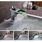 2014 waterfall LED bathroom faucet-A-LED-6009