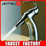 2013 Exquisite Brass Body Long Neck Water Faucet Face Wash Basin Faucet-B0023