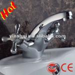 Dual handle with chrome plated basin mixer (bathroom mixer) 3232-1-3232-1
