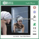 beautiful make up silver bathroom mirror cabinet with light-AL-DJ212