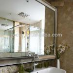 6mm bathroom mirror with stainless steel frame-bathroom mirror
