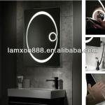 Backlit bathroom mirror with magnifying mirror-LS154