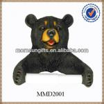 2014 New Design Bear Shaped of Polyresin Toilet Paper Holder-MMD2001