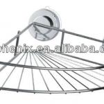 Luxury stainless steel attachable suction cup corner rack-270278