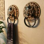 Q239-82 Chinese Style Antique Bathroom Durable Towel Ring-Q239-82