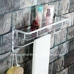 BATHROOM NECESSARY ACCESORIES-ZP-622 SINGLE TIER ALUMINIUM BASKET WITH A BAR-ZP-622