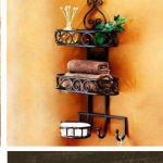 Iron bathroom rack,soap shelf,washingroom shelf with hook-