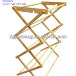 Solid rubberwood standing clothes drying rack / clotheshorses-BY18