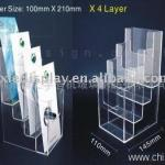 Glass or acrylic brochure shelf-KX-SH03