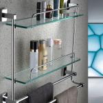 High quality modern double glass hotel balfour bathroom accessories-6102-2
