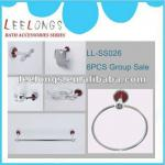 LL-SS026 6pcs red bathroom accessories set-LL-SS026