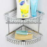 Bathroom Corner Mount Double Tiers Soap Basket BA1192-BA1192
