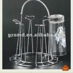 Heart shaped chrome glass cup holder-SMD-12030601