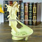 custom resin sanitary ware soap dish with lady figure-sp0323