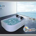 Snuofan two person luxury massage bath tubs shower bathroom furniture cheap shower bath cabin with good quality whirlpool sharp-SW-8H05(White)