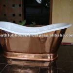 Copper Bathtub with white powder coating-CB-018