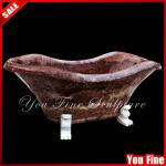Classical handcarved freestanding natural stone bathtub-YF-S-28