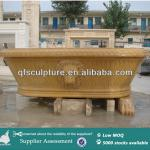 Handcarved Marble Bathtub with Lion Head-QF-Alice-BT019