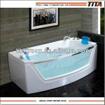 Stainless steel jets glass front whirlpool bathtub-TMB055