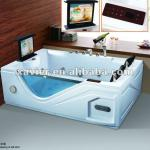 New design Hot tub massage bath tub with TV/DVD,heater control panel and air bubble-X-8058