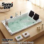 Built-in Tub with Waterproof LCD TV for 2 person-SP-A037A