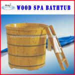 Hot sale wood spa tub with ladder-KF1390 wood spa tub with ladder