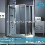 tempered glass enclosed shower bath combo-ACSC2801CL