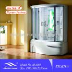 Hot Selling Rectangle Massage bathroom Shower steam room with bath-M-A005