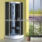 Black glass steam room shower cabin price with seat FM-SW-8023