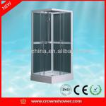 White aluminum profile tempered glass Norway walk in cheap bathroom complete square shower enclosure (HG-8632)-HG-8632