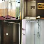 Frameless Shower glass doors for Eolo Shower System - New by Carbone-