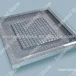 Cheap grey granite G603 square shower tray with mosaic anti-slip surface-grey granite shower base
