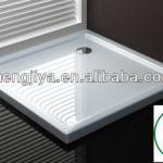ABS square shower tray with basin shower function-MJY-SL90