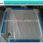 Artifical crystal stone resin shower tray white color square shape-shower tray
