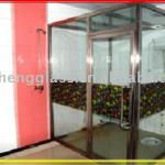 6mm tempered shower room glass ( with frame)-tempered glass