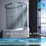 AQSC1601CL Aluminium sliding frame glass shower screen price-AQSC1601CL
