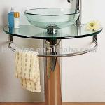 Glass wash basin transparent(9) round glass wash basin-BX8003
