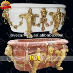 bathroom hand carved marble bowl bathtub ICAT0025-ICAT0025