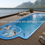 liquid acrylic swimming pool with massage bathtub-MS-H02