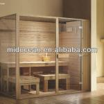 3 people use solid wood sauna room-M-AS006