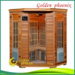 2013 Luxury Canadian Red Cedar sauna cabin,Corner Far infrared sauna-G3CD(red)