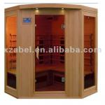 4 Person Hemlock Corner Sauna Room-Abel-400GC