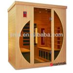 Far infrared sauna room with CE ETL for 4 people-SMT-041L infrared sauna